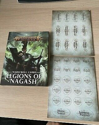 *NEW* Warscroll Cards & Tokens - Legions Of Nagash - Warhammer Age Of Sigmar • 49.99£