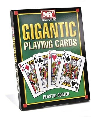 Gigantic Playing Cards Indoor Outdoor Summer Garden Game Fun For All The Family • 6.99£
