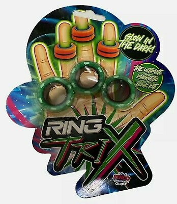 Ring Trix Magnetic Fidget Toy Glow In The Dark Calm De Stress RANDOM COLOUR! • 6.49£