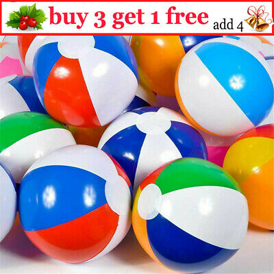 20X Inflatable Beach Ball Summer Holiday Kids Pool Party Blow Up Swimming Toy ER • 11.90£