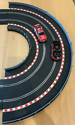 Scalextric Black Borders Inner And Outer Bundle With Track • 15.99£