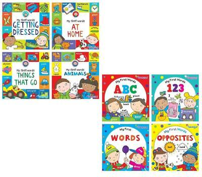 Set Of 4 Board Book Bundle Baby Toddler Easy Learning First Words Book Gift Set • 4.99£