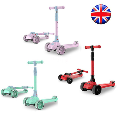 Kids Scooter For 2-9 Years Old 2 In 1 Foldable Scooter With Flashing Wheels F1F7 • 36.79£