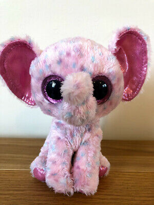 Ty Ellie The Elephant Beanie Boos New But No Hang Tag 15cm  • 10£