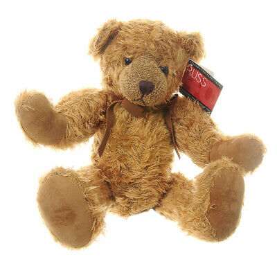 Russ Berrie Jubilee Brown Bear Plush 15  High Jointed Stuffed Collectabable • 42.95£