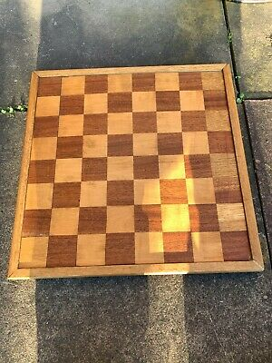 Vintage Hand Made Wooden Chess Board • 24.99£