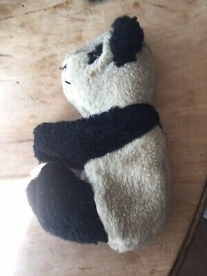 Vintage Panda Toy With Zip Back Circa 1940 • 20£