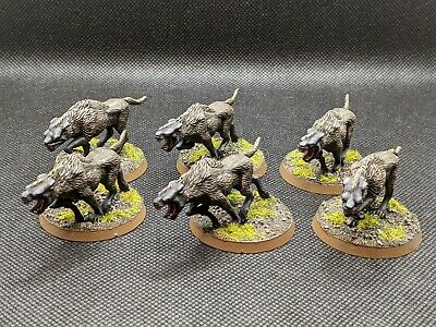 Gw Lord Of The Rings Painted Wild Wargs • 40£
