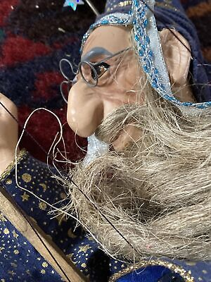 Merlin Wizzard Puppet Toys Puppets Needs Attention To Strings  • 12.50£