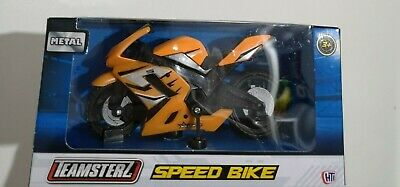 Teamsterz Metal Orange Speed Bike 3+ Boy Girl Gift Toy Sports Bike  • 4.49£