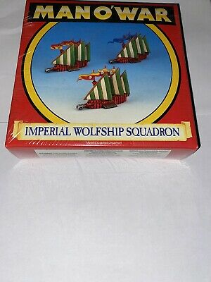 Games Workshop Man O War Imperial Wolfship Squadron Sealed Brand New • 125£