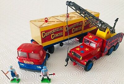 Camion Transport Des Fauves + Grue 6x6 Chipperfields Circus + Figurines 1/43 Eme • 86.40£