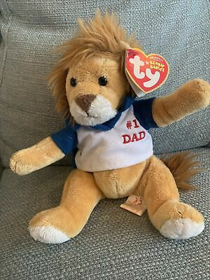 My Dad Ty Beanie Lion With Tag • 3£