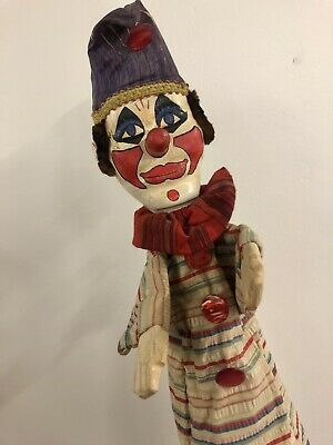 Vintage Punch And Judy Professional Puppet Joey The Clown • 120£