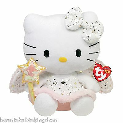 TY BEANIE * HELLO KITTY GOLD ANGEL * UK EXCLUSIVE 6  Tall - NEW • 9.98£