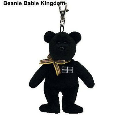 Ty Beanie * Kernow * Black Cornwall Teddy Bear Metal Key Clip - Uk Exclusive  • 10£