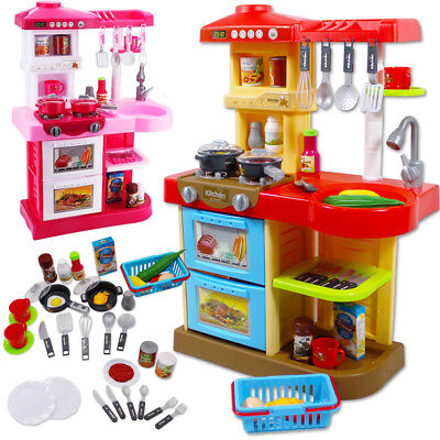 DeAO Toddler Kitchen Playset Little Chef With 30 Accessories Role Playing Game • 31.30£