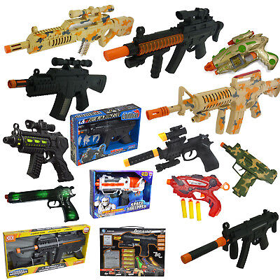 Toy Gun Plastic Police Army Machine Gun Styled Kids Childrens War Game Toys • 9.99£