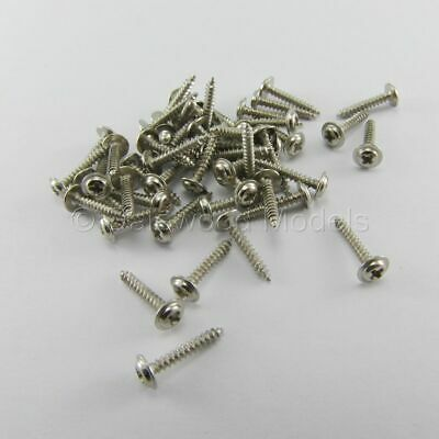 50 Self Tapping Machine Screws M2 X 12mm Phillips Head W/Shoulder Flange • 3.74£