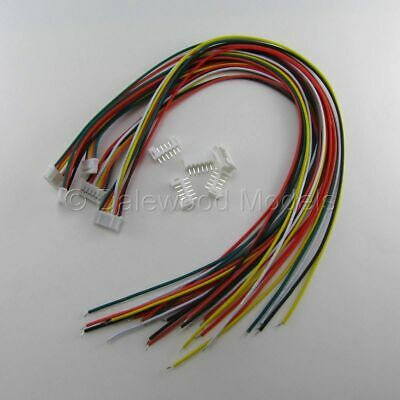 5 Sets JST PH 2.0mm 6 Pin Male-Female Connector Plug Wires Cables 300mm • 3.99£