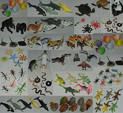 Plastic Farm Zoo Wild Jungle Animals Bugs Insects Sealife Animals UK SELLER ONLY • 5.94£