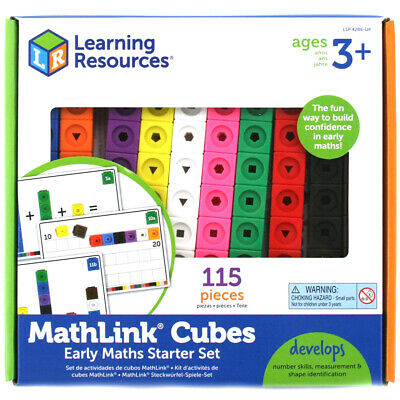 Learning Resources Mathlink Cubes Early Math Starter Set NEW • 16.99£