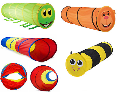 Kids Animal Pop Up Crawl Tunnel Tube Play Tent Toy Indoors/outdoors Garden Game • 12.95£