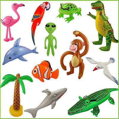 Fun Inflatable Animals Kid's Birthday Fancy Dress Party Animals Fishes Gift Toy • 2.20£