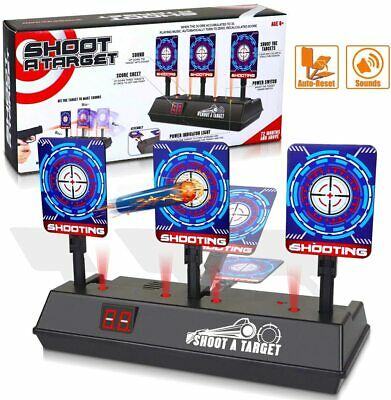 Electric Scoring Auto Reset Shooting Digital Target For Nerf Gun Toy Kids Gift • 12.99£