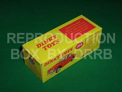 Dinky #184 Volvo 122 S - Reproduction Box By DRRB • 10£