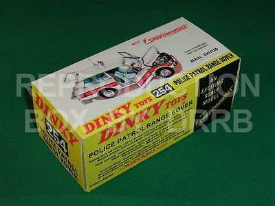 Dinky #254 Police Patrol Range Rover - Reproduction Box By DRRB • 10£