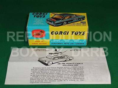 Corgi #328 Hillman Imp Monte Carlo - Reproduction Box By DRRB • 12£
