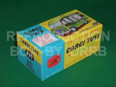 Corgi #359 Army Field Kitchen - Reproduction Box By DRRB • 10£