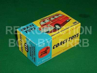 Corgi #423 Bedford Fire Tender - Reproduction Box By DRRB • 10£