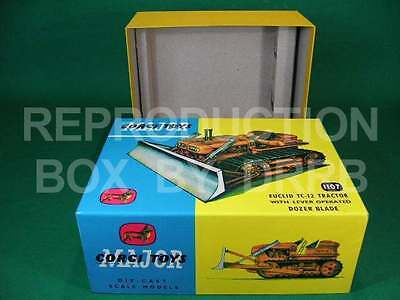 Corgi. #1107 Euclid Tractor With Dozer Blade - Reproduction Box By DRRB • 34£