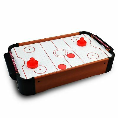 Kids Table Top Mini Air Hockey Paddle Pushers Pucks Toy Family Game Xmas Gift • 11.29£