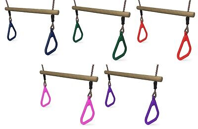 Swing Trapeze Bar For Kids Climbing Frames And Swing Sets - 5 Colours • 13.99£