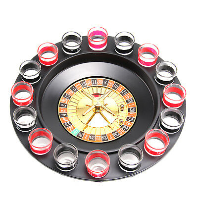 Casino Party Spin & Shot Roulette Wheel Drinking Set For Adults Wheel Game • 7.39£