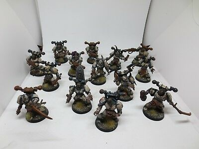 Death Guard Chaos Space Marine Squad (14) Forgeworld Upgrades Painted G178 • 39.99£
