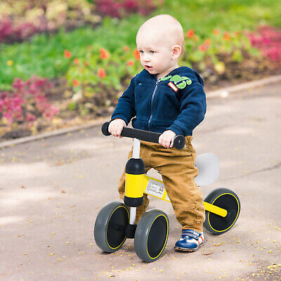 HOMCOM Kids Baby Toddler Trike 3 Wheel Ride-on Cycle For Balance Training Yellow • 23.99£