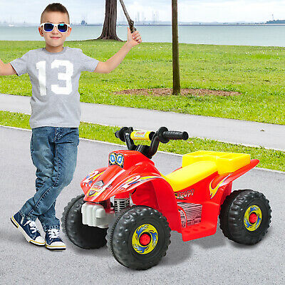 HOMCOM Kids 6V Electric Car Children Ride-on Toy Off Road Style Quad Bike Red • 42.99£