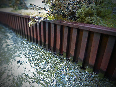 Laser Cut Canal Piling Dockside Quayside Scale 1:50 Diecast Diorama - Lx107-50 • 12.05£