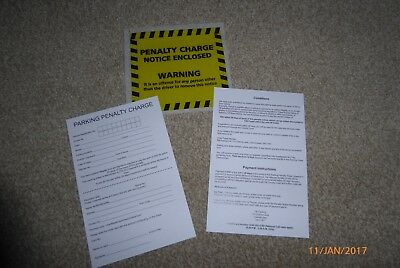 5 Joke Fake Parking Tickets - Very Realistic Top Prank (penalty Charge ) • 1.60£
