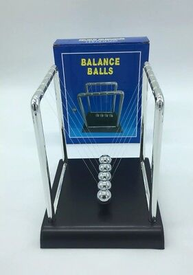 Newtons Cradle Toy  Balance Balls Science Executive Office 18cm • 8.99£
