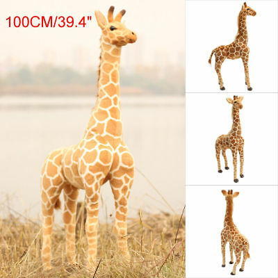 Hot Cute Giraffe Toy Doll Giant Large Stuffed Animals Soft Doll Kids Gift 100cm  • 23.99£
