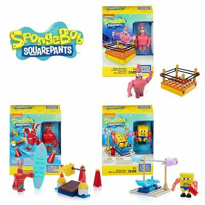 New Spongebob Squarepants Wacky Gym Surfing Or Wrestling Building Pack Official • 8.99£