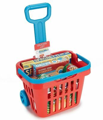 Melissa & Doug Fill & Roll Grocery Basket With Handle Playset Play Food 11 Piece • 21.99£