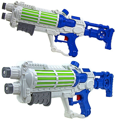 2 X WATER GUN TWO WHITE STAR GALAXY WARS STORMTROOPER PUMP ACTION SHOOTERS 940 • 10.95£