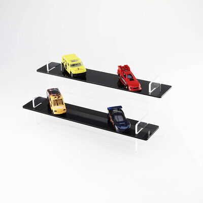 Toy Model Car Tiered Display Stand - Matchbox - Hot Wheels - Black Shelves • 20£
