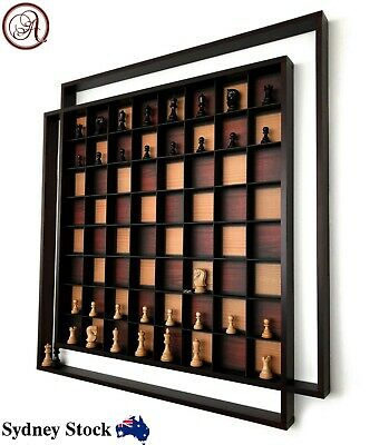AMBRIZZOLA Quadretti Wooden Wall Chess Set With Quality Hand Carved Chess Pieces • 82.77£